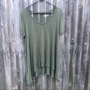 Mudd Green Tunic | Size Medium EC